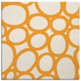rug #906521 | square light-orange circles rug