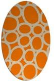 rug #906525 | oval orange circles rug
