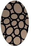 rug #906537 | oval black retro rug