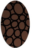 rug #906541 | oval brown retro rug