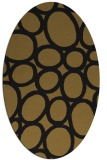 rug #906545 | oval black circles rug