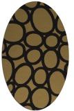 rug #906553 | oval black circles rug
