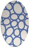 rug #906573 | oval blue abstract rug