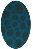 rug #906593 | oval blue-green circles rug