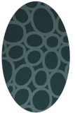 rug #906601 | oval blue-green abstract rug