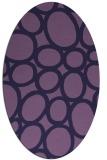 rug #906625 | oval blue-violet circles rug
