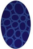 rug #906629 | oval blue-violet retro rug