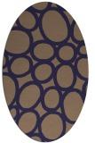 rug #906633 | oval blue-violet circles rug