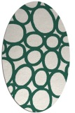 rug #906661 | oval green circles rug
