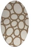 rug #906677 | oval beige circles rug
