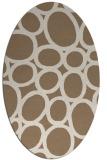 rug #906678 | oval abstract rug