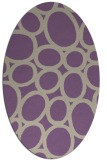 rug #906709 | oval purple circles rug