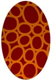 rug #906725 | oval red-orange abstract rug