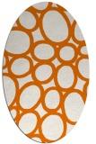 rug #906729 | oval orange retro rug
