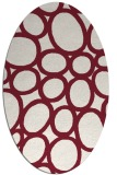 rug #906745 | oval pink retro rug