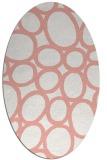 rug #906753 | oval pink popular rug