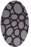 rug #906769 | oval purple circles rug