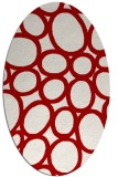 rug #906773 | oval red circles rug