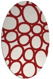 rug #906781 | oval red circles rug