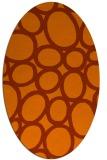 rug #906789 | oval red-orange retro rug