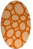 rug #906793   oval red-orange circles rug