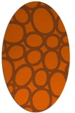 rug #906797 | oval red-orange retro rug