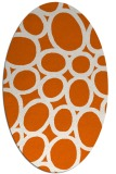 rug #906801 | oval red-orange abstract rug