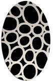 rug #906805 | oval black rug