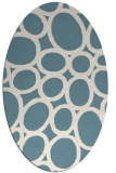 rug #906821 | oval blue-green abstract rug