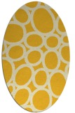 rug #906829 | oval yellow circles rug