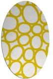 rug #906841 | oval white abstract rug
