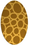 rug #906845 | oval yellow abstract rug