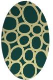 rug #906849 | oval yellow popular rug