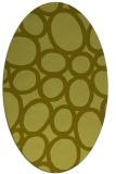 rug #906853 | oval light-green rug