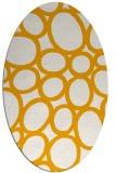 rug #906869   oval light-orange circles rug