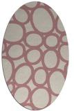 rug #906873   oval pink abstract rug