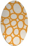 rug #906881 | oval white abstract rug