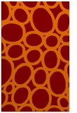 rug #907085 |  red-orange circles rug
