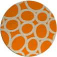 rug #907245 | round orange abstract rug