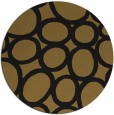 rug #907265 | round black abstract rug