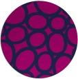 rug #907281 | round blue circles rug