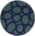 rug #907285 | round blue-green abstract rug