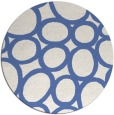 rug #907293 | round blue abstract rug