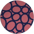 rug #907341 | round pink abstract rug