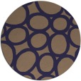 rug #907353 | round blue-violet abstract rug