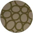 rug #907361 | round mid-brown circles rug