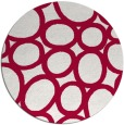 rug #907365 | round red abstract rug