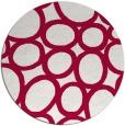 rug #907365 | round red retro rug