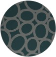 rug #907377 | round green abstract rug