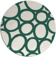 rug #907381 | round green abstract rug